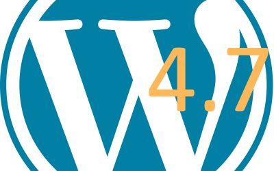 È uscita la Beta 1 di WordPress 4.7